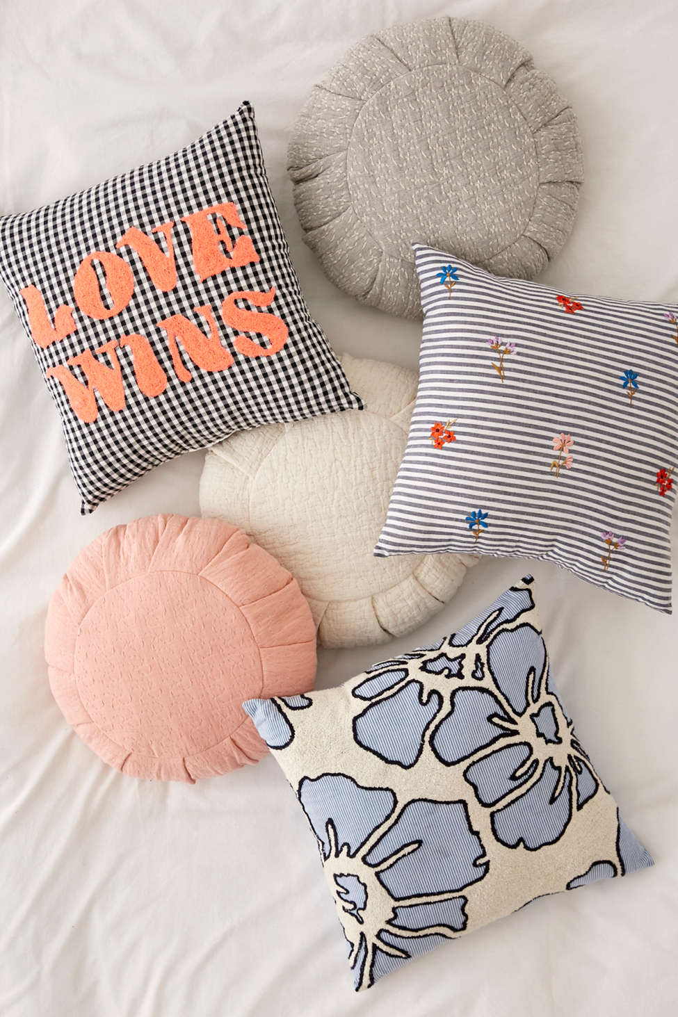 Slide View: 4: Love Wins Gingham Throw Pillow