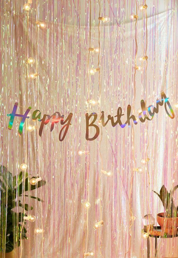 Ginger Ray Iridescent Foil Happy Birthday Banner Urban
