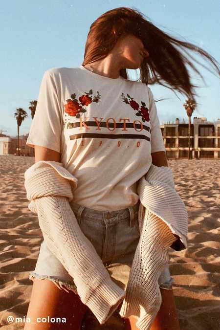 Kyoto Embroidered Floral Tee
