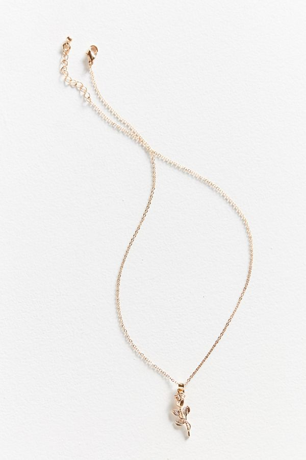 Simple rose pendant necklace urban outfitters slide view 2 simple rose pendant necklace aloadofball