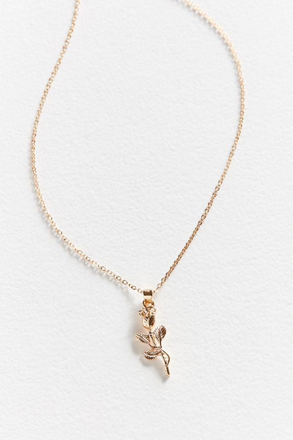 Simple rose pendant necklace urban outfitters slide view 3 simple rose pendant necklace aloadofball Image collections