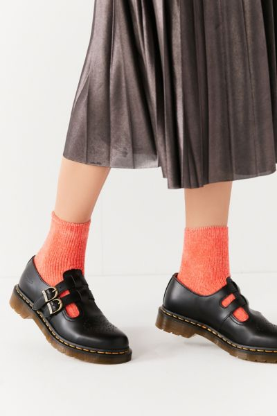 Dr. Martens 8065 Leather Mary Jane Shoe - Black 6 at Urban Outfitters