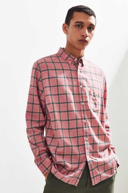 Barney Cools Cabin Plaid Flannel Button-Down Shirt