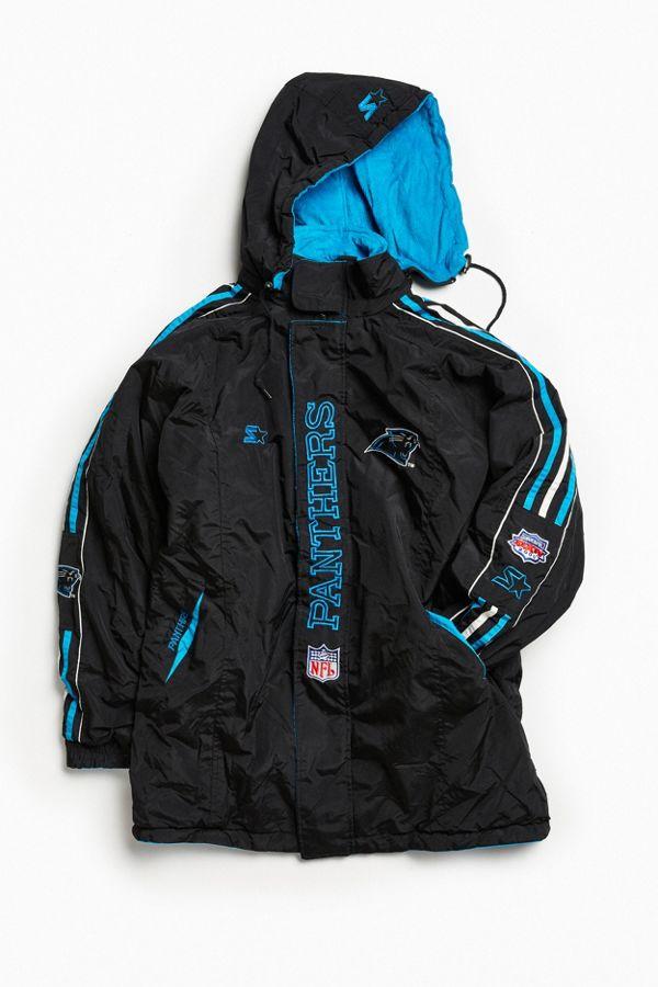 16fff10b9 Vintage Starter Carolina Panthers Reversible Full-Zip Jacket