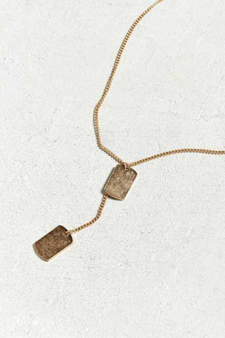 Slide View: 1: Double Dog Tag Necklace