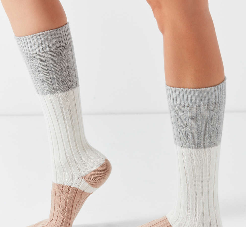 Slide View: 3: Pair Of Thieves Glamping Colorblocked Boot Sock