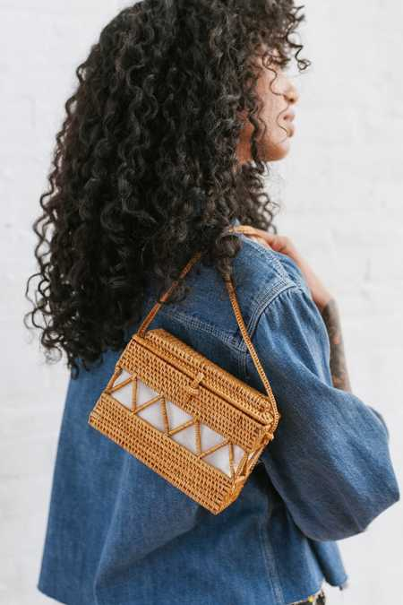 Straw Structured Crossbody Bag