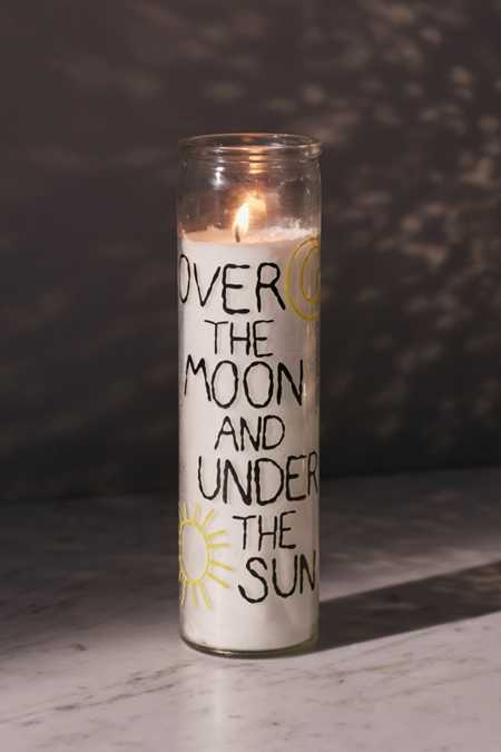 Amber Ibarreche X UO Over The Moon Glass Pillar Candle