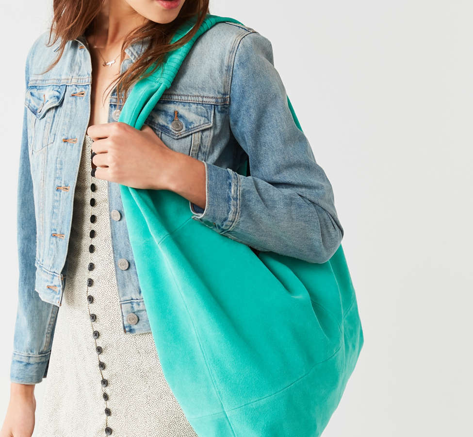 Slide View: 1: Slouchy Suede Tote Bag