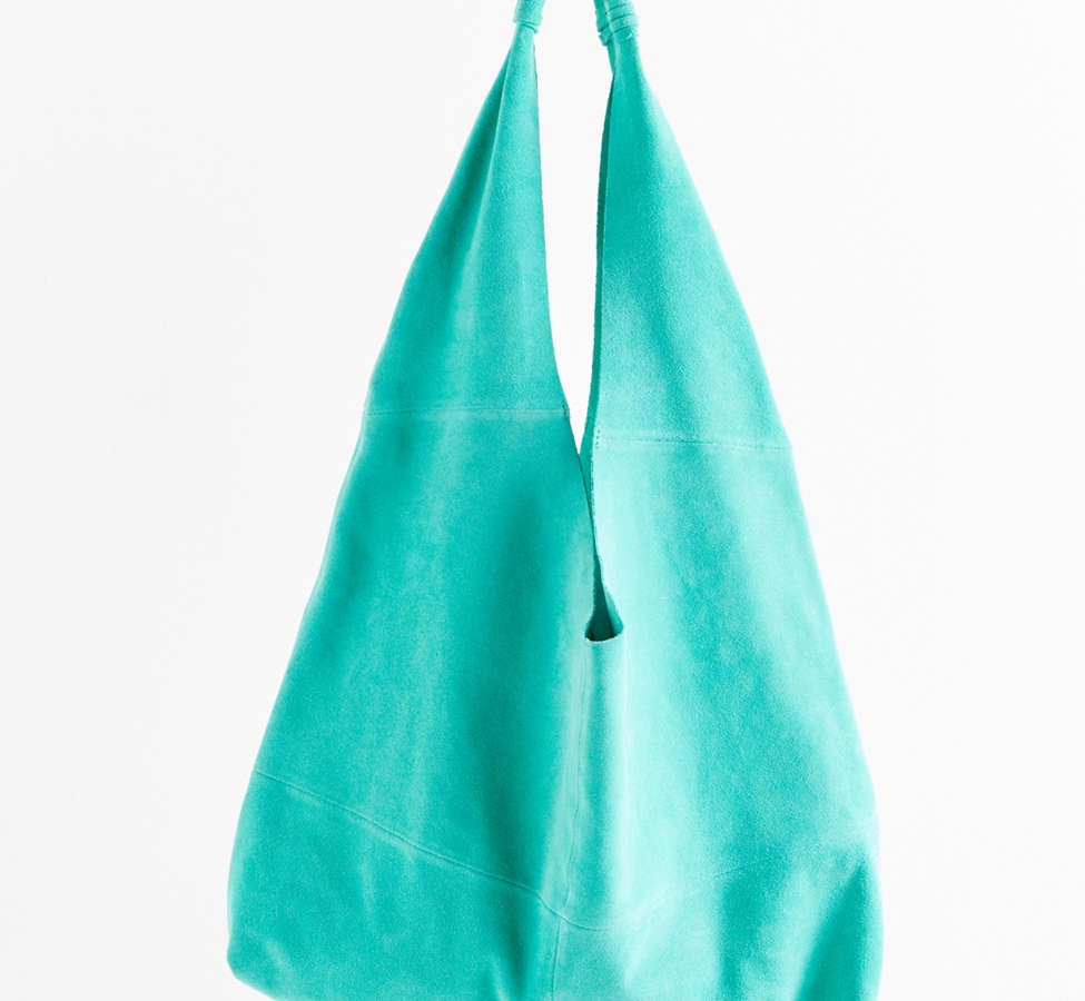 Slide View: 2: Slouchy Suede Tote Bag