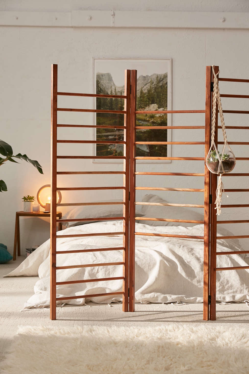 Slide View: 1: Luciana Ladder Storage Room Divider Screen