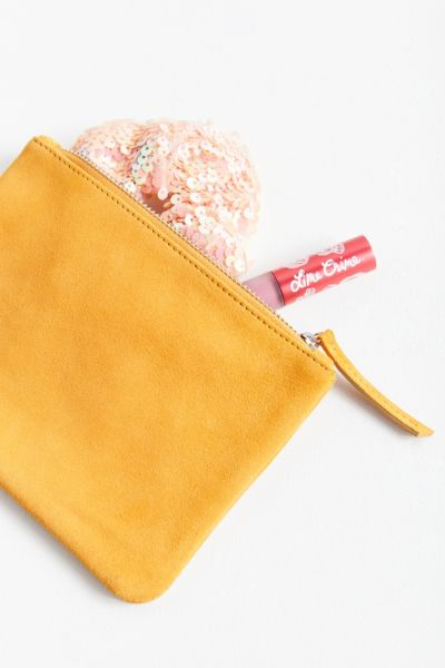 Medium Suede Pouch - Burnt Orange One Size at Urban Outfitters