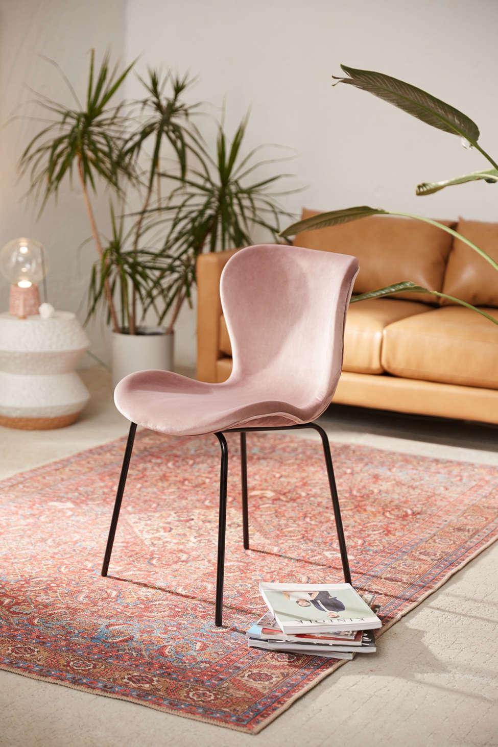 Slide View: 1: Rosa Velvet Dining Chair