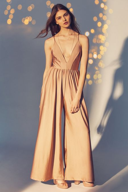 Gold Rompers Jumpsuits For Women Urban Outfitters