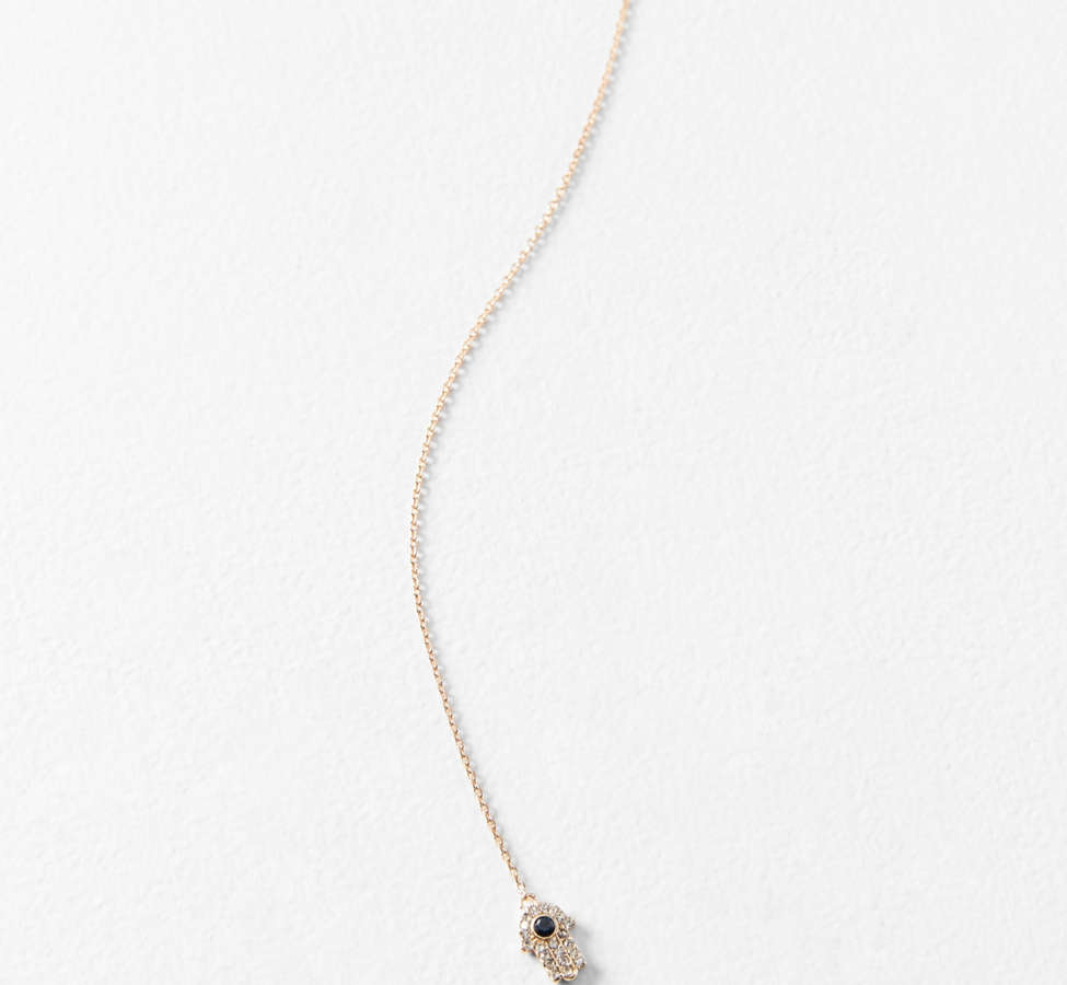 Slide View: 1: Collier lasso Evil Eye