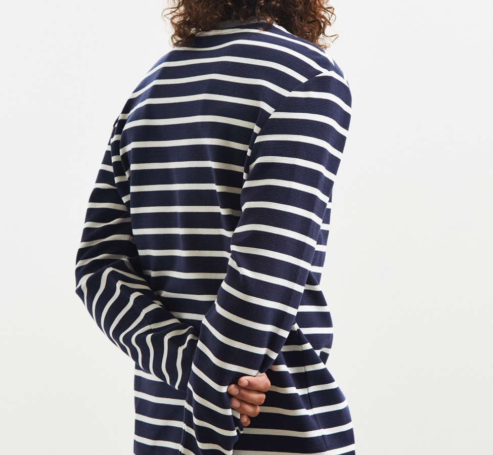 Slide View: 4: Lacoste Striped Ottoman Long Sleeve Tee