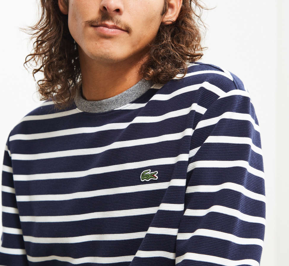 Slide View: 5: Lacoste Striped Ottoman Long Sleeve Tee
