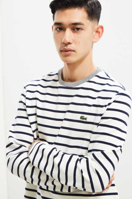 Lacoste Striped Ottoman Long Sleeve Tee