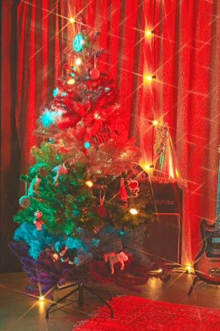 5 rainbow faux christmas tree - Christmas Tree In A Box