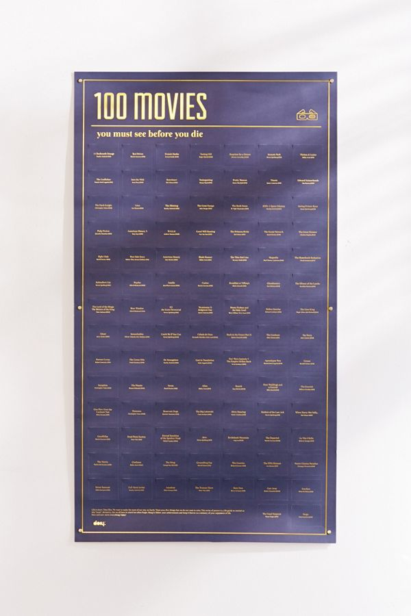 100 movies you must see before you die poster - Must See Movies