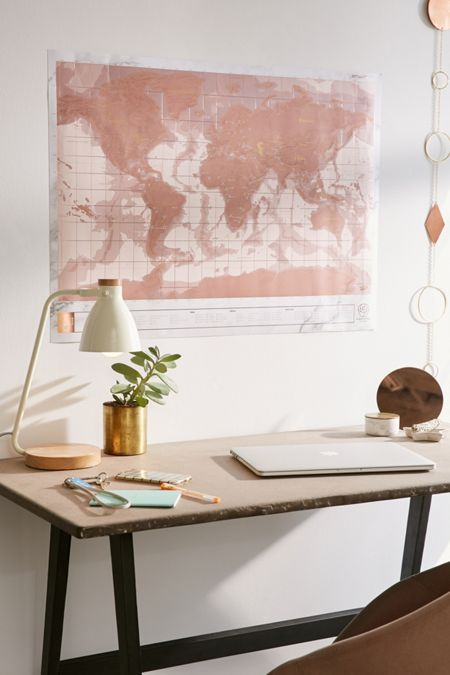Maps wall decals art prints urban outfitters rose gold scratch off world map gumiabroncs Gallery