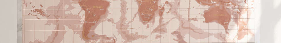Thumbnail View 2: Rose Gold Scratch-Off World Map