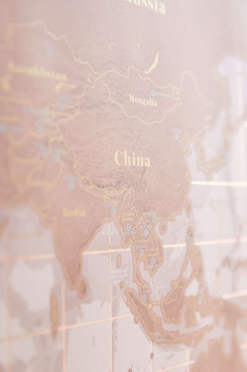 Rose Gold Scratch Off World Map Urban Outfitters
