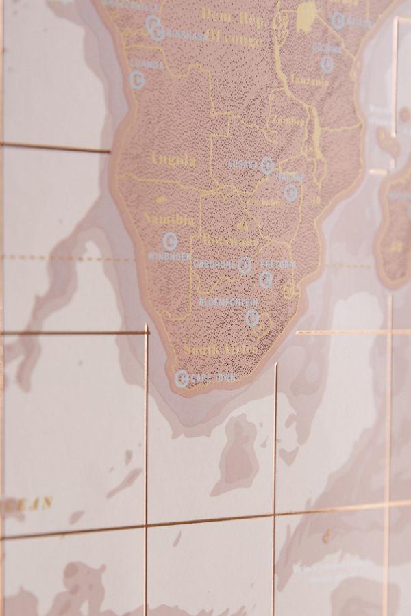 Rose gold scratch off world map urban outfitters slide view 4 rose gold scratch off world map gumiabroncs Gallery