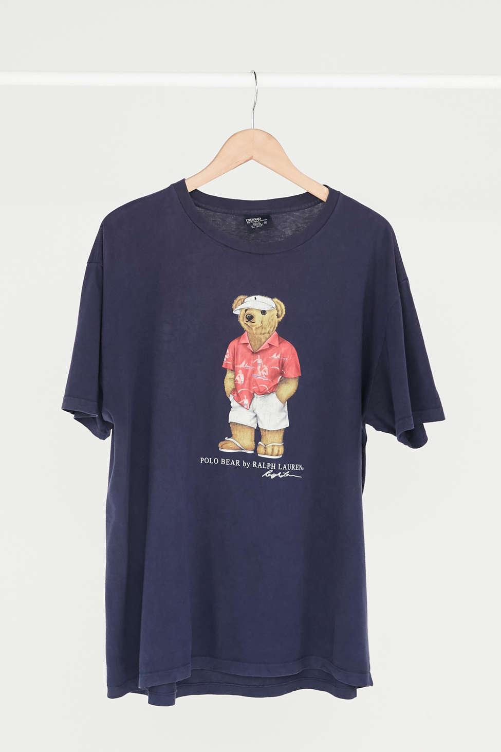 Vintage Polo Ralph Lauren Bear Logo Tee Urban Outfitters