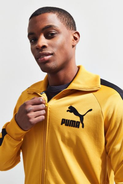 Puma Vintage Track Jacket - Gold S at Urban Outfitters