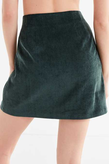 Slide View: 2: UO Corduroy Button-Down Skirt