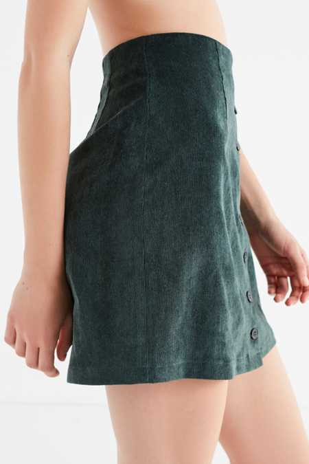 Slide View: 3: UO Corduroy Button-Down Skirt
