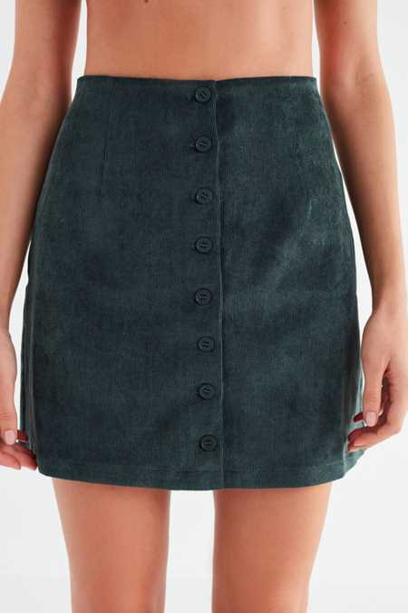 Slide View: 6: UO Corduroy Button-Down Skirt