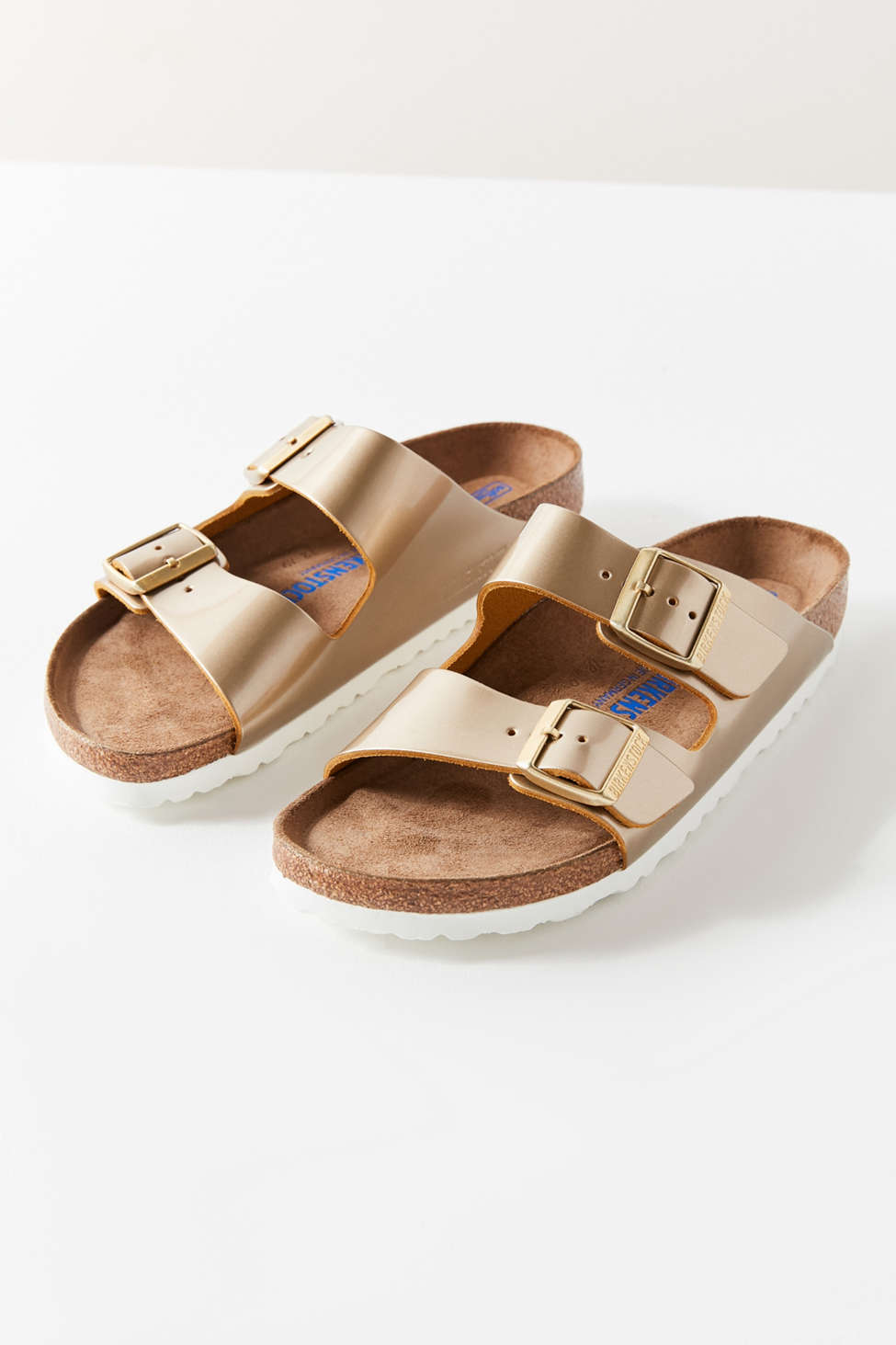 Soft Footbed Arizona Metallic Slide Sandals