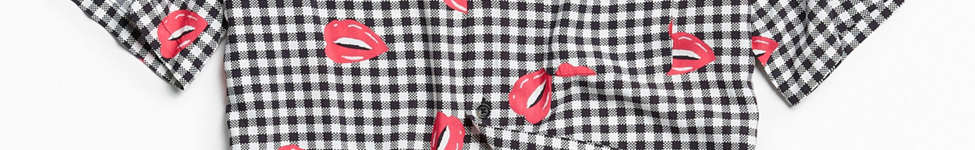 Thumbnail View 1: UO Liam Pop Gingham Rayon Short Sleeve Button-Down Shirt