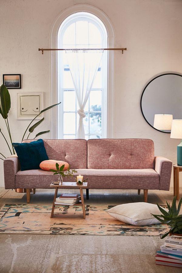 velvet sleeper tufted outfitters ava avavelvettuftedsleepersofa copycatchic urban couch sofa