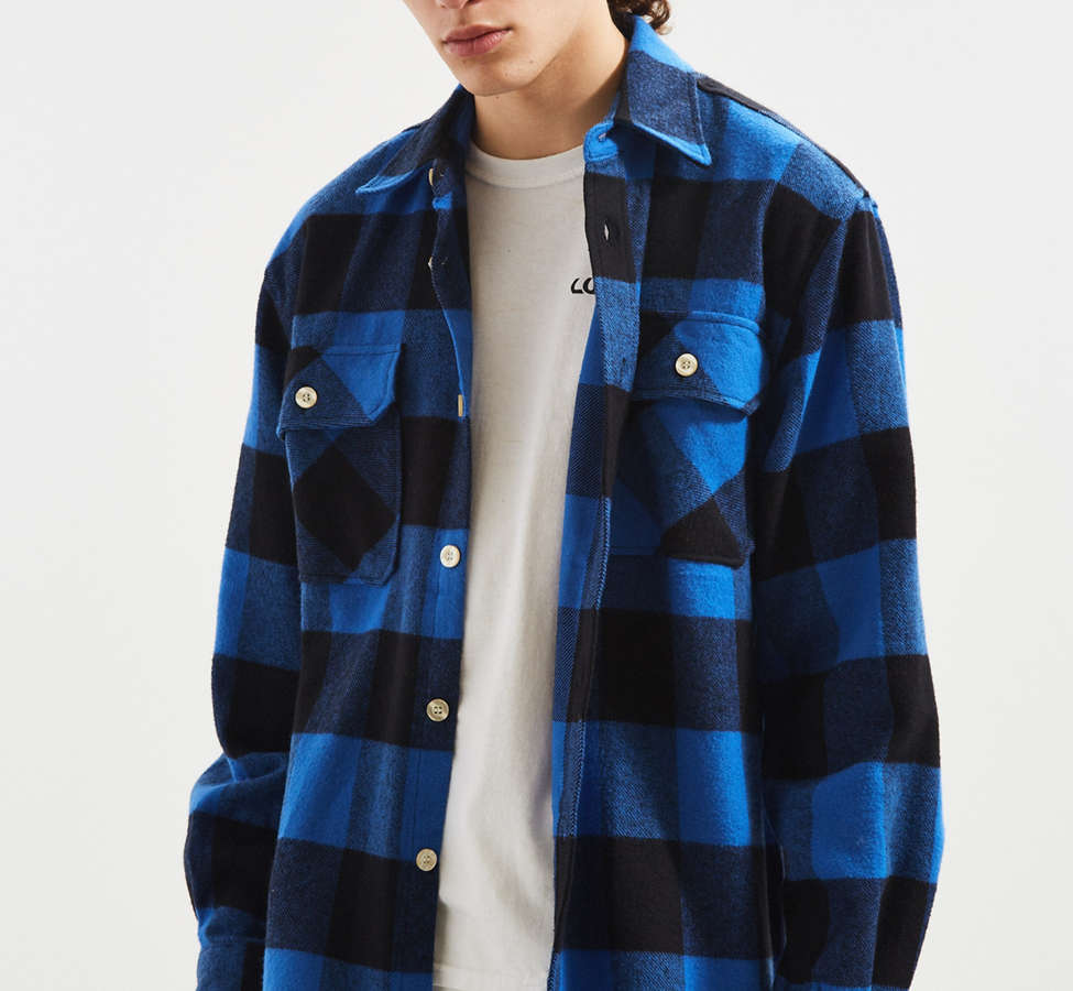 Slide View: 2: Rothco Heavyweight Buffalo Plaid Flannel Button-Down Shirt