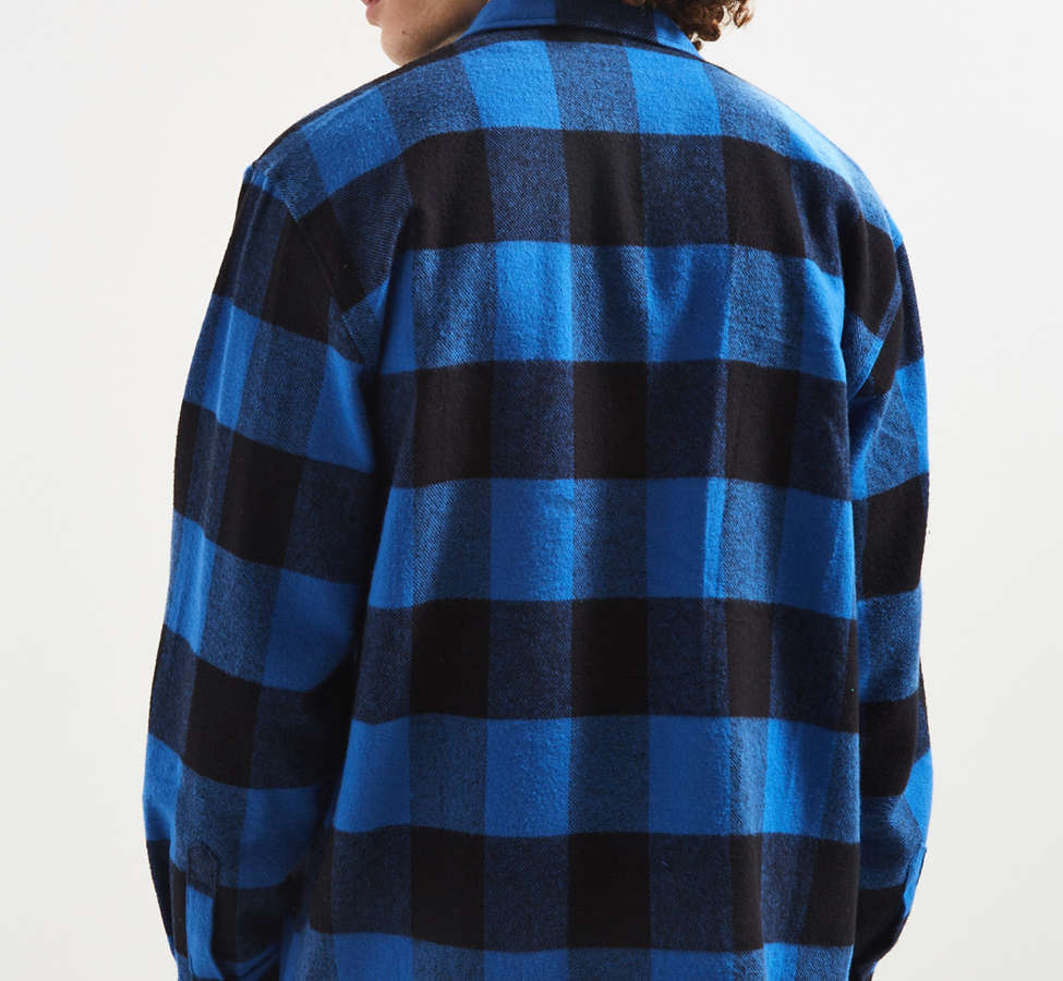 Slide View: 4: Rothco Heavyweight Buffalo Plaid Flannel Button-Down Shirt