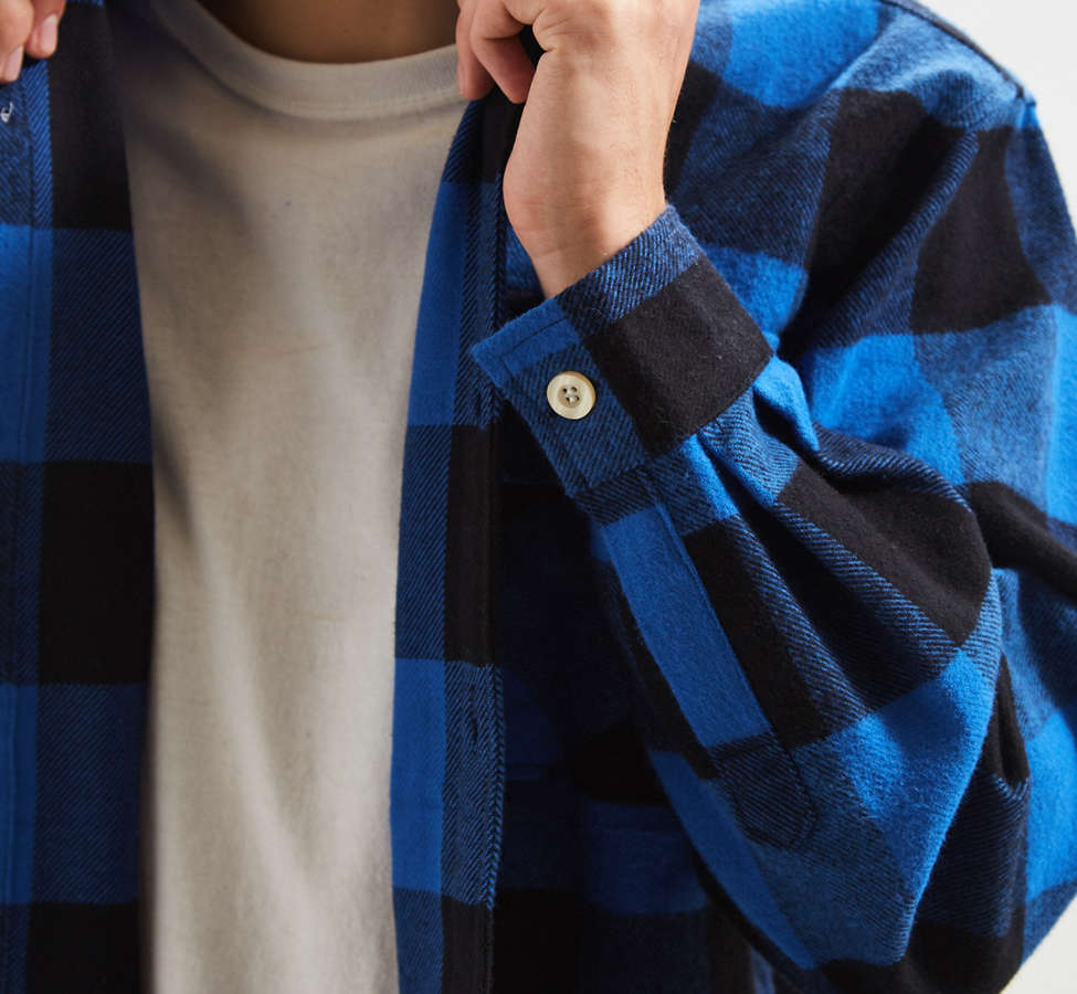 Slide View: 5: Rothco Heavyweight Buffalo Plaid Flannel Button-Down Shirt