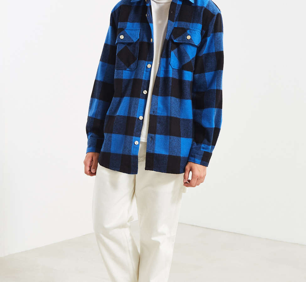 Slide View: 6: Rothco Heavyweight Buffalo Plaid Flannel Button-Down Shirt