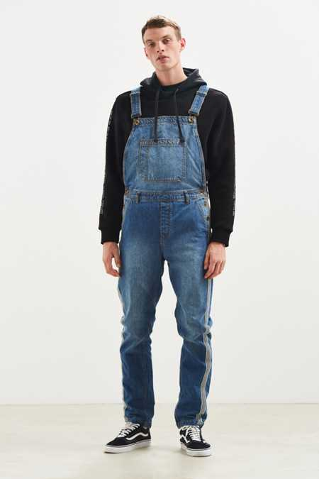 BDG Side Stripe Denim Overall