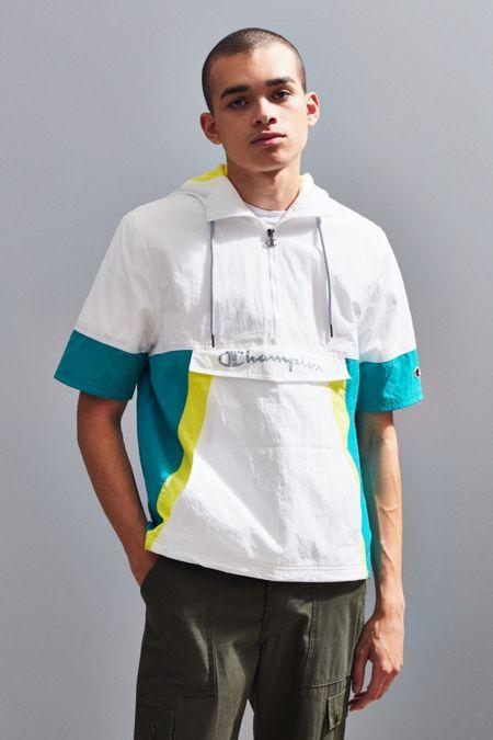 a0f8f3cb9 Champion Woven Colorblock Short Sleeve Anorak Jacket