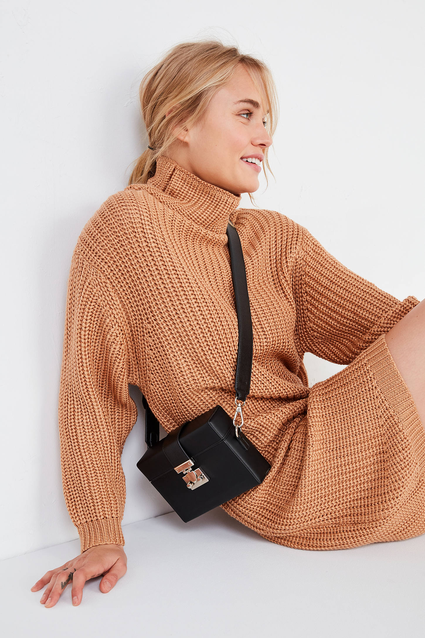 BLQ BASIQ Chunky Turtleneck Sweater Dress | Urban Outfitters Canada