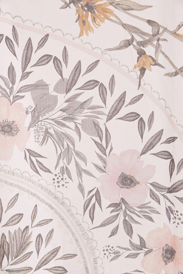 Slide View 2 Sketched Floral Medallion Shower Curtain