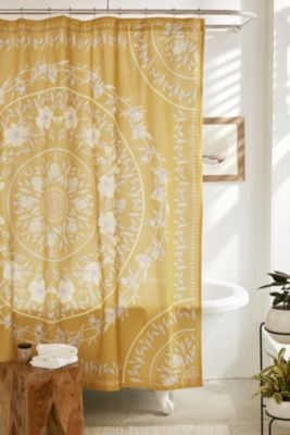 yellow and teal shower curtain.  Shower Curtains Bathroom Urban Outfitters