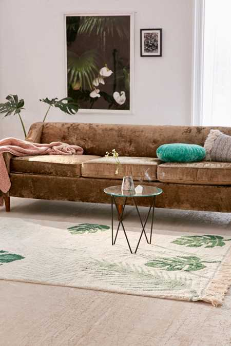 Tropical Greens Washable Rug