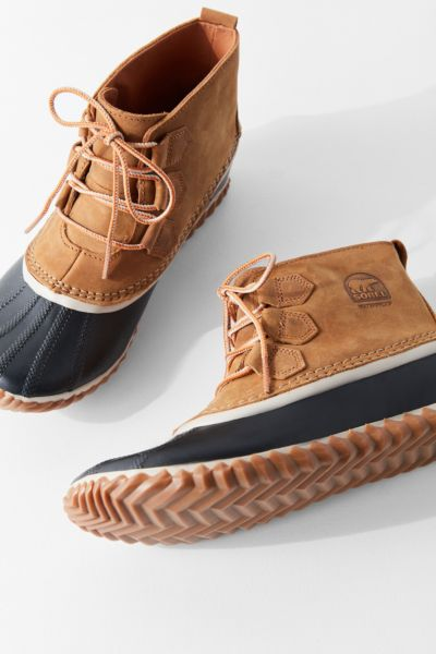 Sorel Out N About Leather Duck Boot - Brown Multi 6 at Urban Outfitters