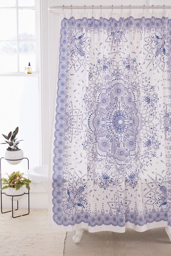 Emilia Medallion Shower Curtain