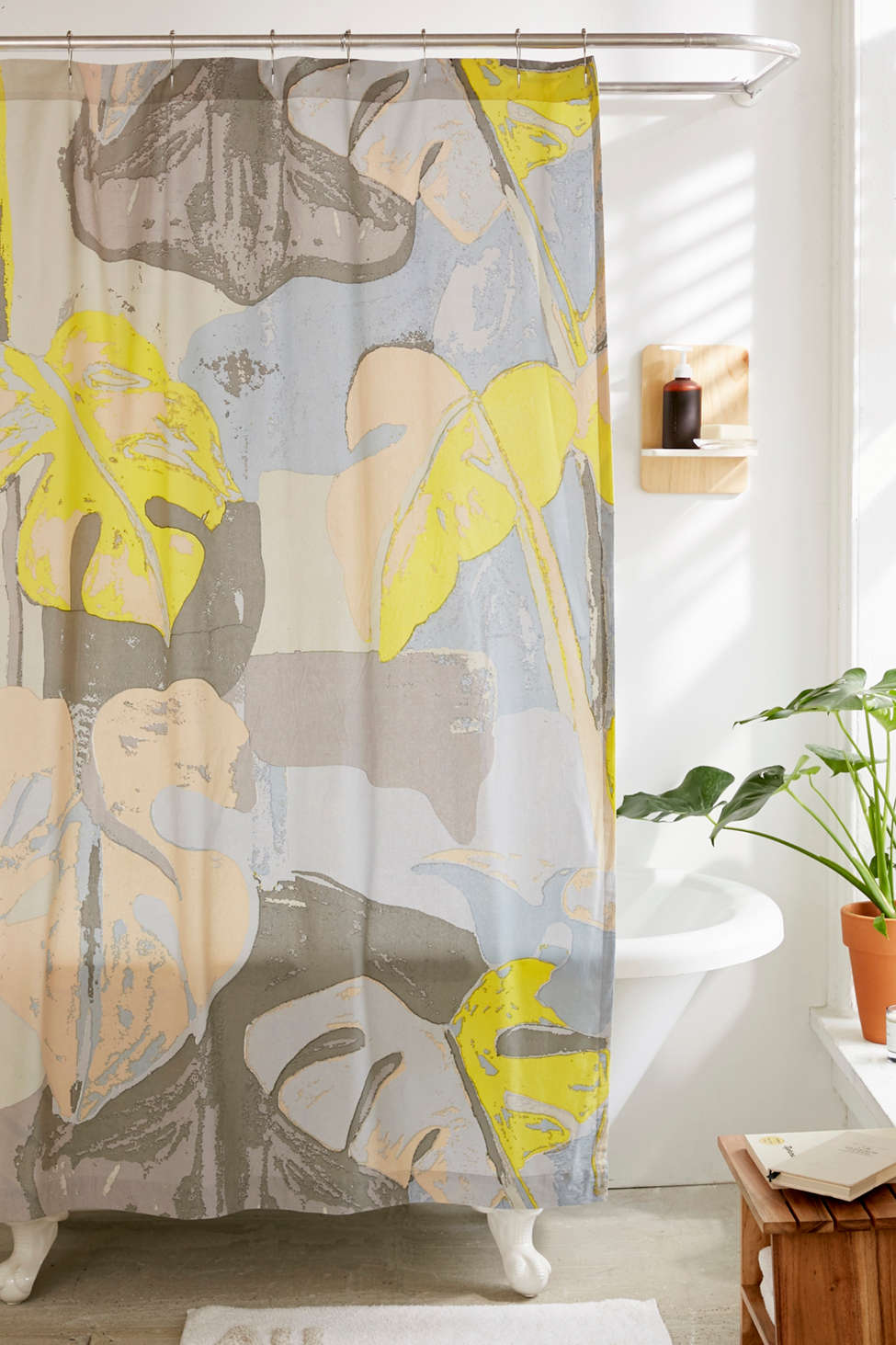 Slide View: 1: Abstract Palms Shower Curtain