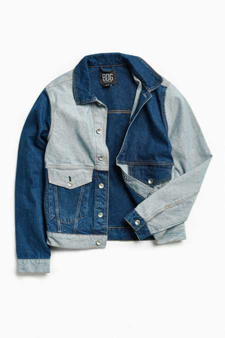 BDG Blocked Denim Trucker Jacket